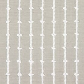 Loops - Linen - Fabric made from grey cotton, with a pattern of white, knotted, vertical lines