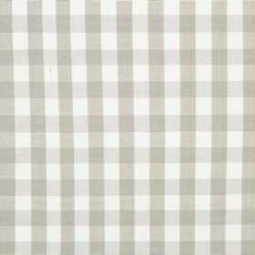 Check - Linen - Light grey and white checked fabric made from cotton
