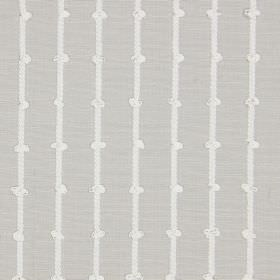 Loops - Natural - White knotted stripes as a pattern for grey cotton fabric