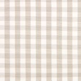 Check - Natural - A very simple, pale grey-beige and white checked design on fabric made from cotton