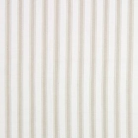 Cable - Natural - Cotton fabric in light beige and white, with a simple striped pattern