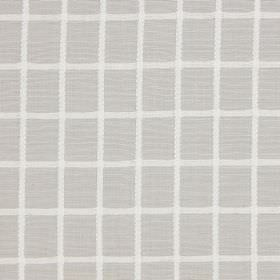 Chain - Natural - Cotton fabric with a simple white grid over a pale grey background