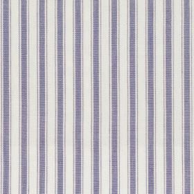 Marine - Denim - Denim blue and white striped fabric