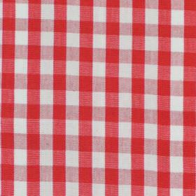 Naval - Red - Red and white tartan fabric