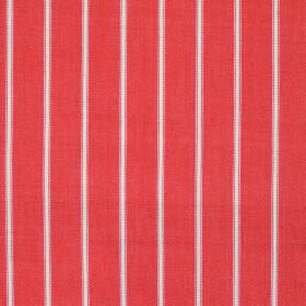 Navigate - Red - Wide red striped fabric