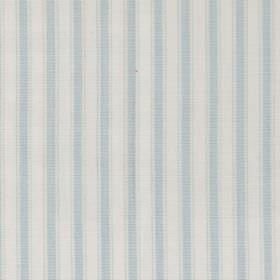 Marine - Azure - Azure blue and white striped fabric