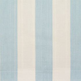 Maritime - Azure - Azure blue and white wide striped fabric