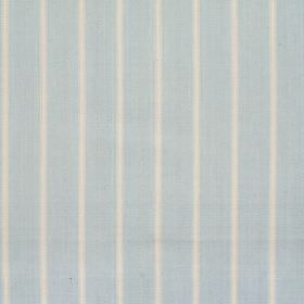 Navigate - Azure - Wide azure blue striped fabric