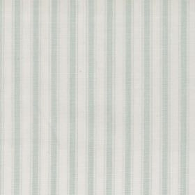Marine - Aqua - Aqua blue and white striped fabric