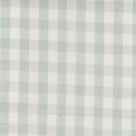 Naval - Aqua - Aqua blue and white tartan fabric