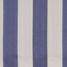 Maritime - Denim - Denim blue and white wide striped fabric