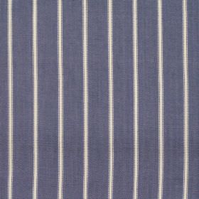 Navigate - Denim - Wide denim blue striped fabric