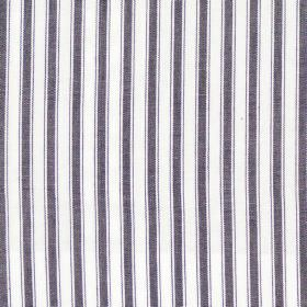 Marine - Charcoal - Charcoal grey and white striped fabric