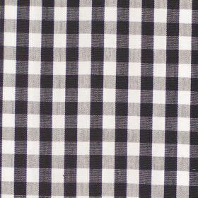 Naval - Charcoal - Charcoal grey and white tartan fabric