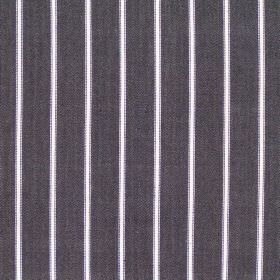 Navigate - Charcoal - Wide charcoal grey striped fabric
