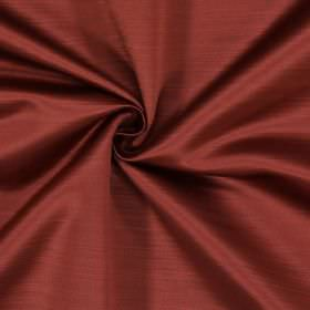Mayfair - Redwood - Fabric made from light dusky red coloured polyester which has a subtle effect created by horizontal lines