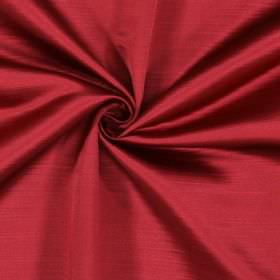Mayfair - Claret - Pink-red coloured 100% polyester fabric which is finished with horizontal lines which cause a subtle effect