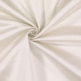 Mayfair - Pearl - Paper white 100% polyester fabric which has a subtle horizontal striped effect in a very pale shade of grey