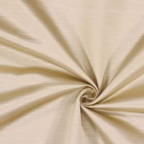 Mayfair - Champagne - Cream and white coloured fabric made from 100% polyester with a subtle lined effect running horizontally