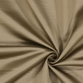 Mayfair - Sable - Fabric made from 100% polyester with a subtle horizontal line effect in sand and light grey colours