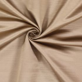 Mayfair - Coin - 100% polyester fabric covered with random, uneven coloured lines causing a subtle pattern in pinkish brown and cream