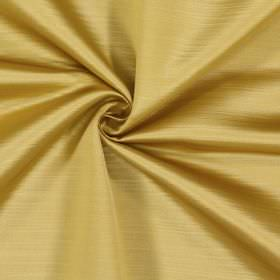 Mayfair - Gold - Golden yellow and white coloured lines running randomly and horizontally causing a subtle effect on 100% polyester fabric