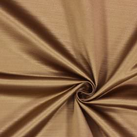 Mayfair - Bronze - A very subtle cream and light brown effect caused by lines running horizontally across fabric made from 100% polyester