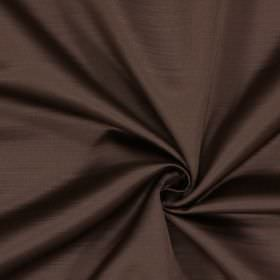 Mayfair - Teak - 100% polyester fabric in dark grey with a subtle horizontal line effect and a warm tone