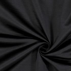 Mayfair - Ebony - Graphite coloured 100% polyester fabric flecked with some horizontal lines in a darker shade of grey