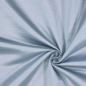 Mayfair - Azure - Duck egg blue and white horizontal lines flecking fabric made entirely from polyester