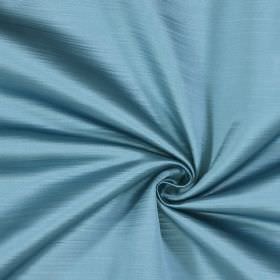 Mayfair - Marine - Duck egg blue coloured fabric made from 100% polyester which has been subtly flecked with horizontal lines
