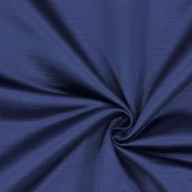 Mayfair - Royal - Bright, Royal blue coloured 100% polyester fabric with a very subtle effect caused by horizontal lines in a darker shade