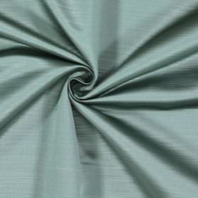 Mayfair - Veridian - Very subtly lined 100% polyester fabric in white and pale aqua green