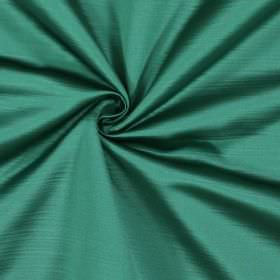 Mayfair - Jade - Fabric made entirely from polyester with a subtle horizontal line effect in two very similar shades of emerald green