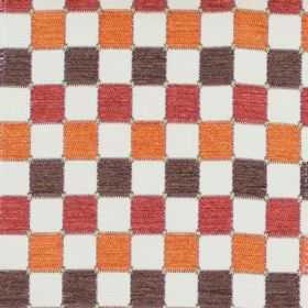 Galileo - Amber - Amber orange chequered fabric