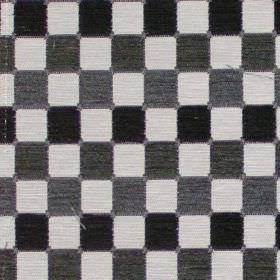Galileo - Graphite - Graphite grey chequered fabric