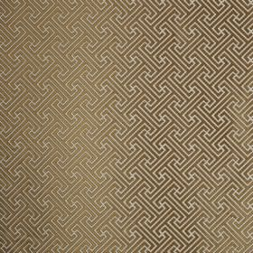 Key - Gilt - Fabric made from chocolate brown and ivory coloured polyester and cotton, with a small, simple, repeated geometric design