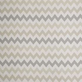 Graphix - Natural - Four different light shades of grey making up a simple, horizontal zigzag print on cotton and polyester blend fabric