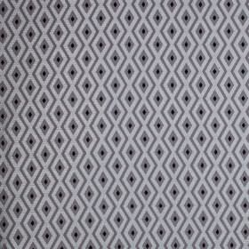 Switch - Anthracite - Small diamonds and zigzags patterning polyester and cotton blend fabric in black, silver-grey and battleship grey