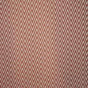 Peak - Tutti Frutti - Zigzag patterned fabric blended from blood red and ivory coloured polyester and cotton, with a large, narrow design