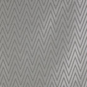 Peak - Anthracite - A large, narrow zigzag design made in similar shades of iron grey, covering polyester and cotton blend fabric