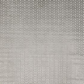 Ariel - Silver - Silver-grey and chrome grey coloured polyester and viscose blend fabric, featuring a small, lustrous geometric pattern