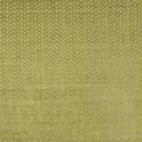 Ariel - Lime - Fabric made from polyester and viscose, featuring small geometric designs in light putty and olive green colours