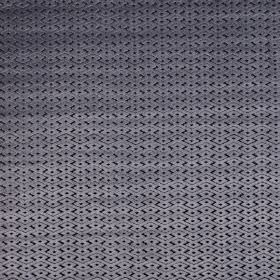 Ariel - Anthracite - Small geometric designs covering lustrous gunmetal grey and black coloured polyester and viscose blend fabric