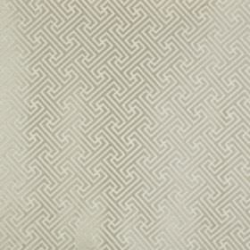 Key - Natural - Polyester and cotton blend fabric made in light, similar shades of grey, featuring a subtle, simple geometric design