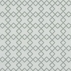 Lexington - Concrete - Light grey fabric embroidered with darker grey squares which overlap