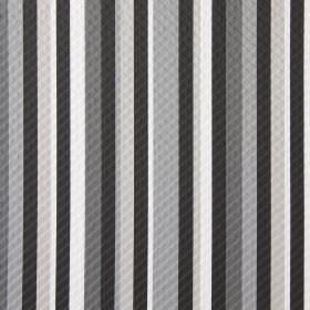 Downtown - Concrete - Fabric printed with a striped pattern in several different shades of grey, with some cream and white