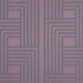 Wall Street - Violet - Purple parallel lines printed in an angular, geometric design on cotton fabric in a lighter shade of purple