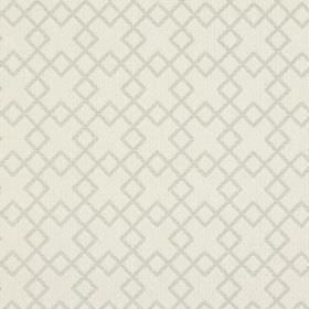 Lexington - Oyster - Fabric the colour of ivory, with a very subtle overlapping squares pattern in grey-beige