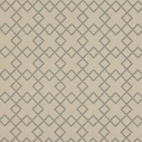 Lexington - Truffle - Warm cream coloured squares embroidered in an overlapping pattern on fabric in a cream colour